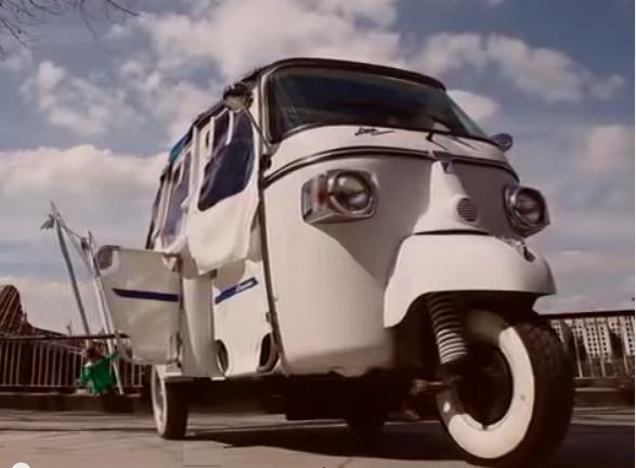White Auto Rickshaw